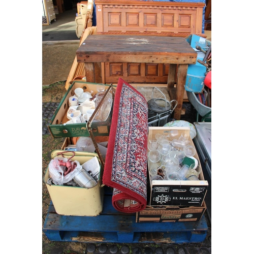 18 - Pallet of assorted House Clearance ceramics and bygones...
