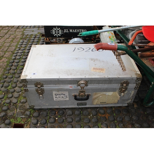 19 - Metal bound travelling trunk...
