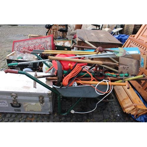 20 - Collection of Garden tools in a Wheelbarrow...