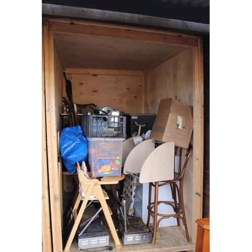 23 - Contents of a Storage Container to include House clearance Furniture and bygones, Ceramics etc...