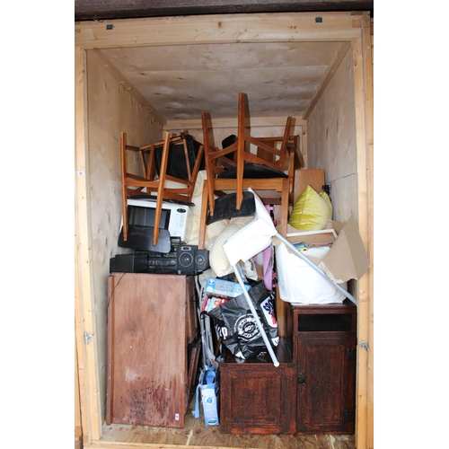 25 - Contents of a Storage Container to include House clearance Furniture and bygones, Ceramics etc...