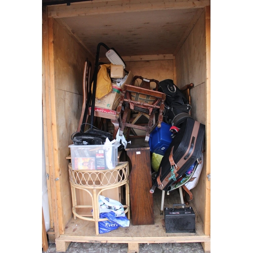 27 - Contents of a Storage Container to include House clearance Furniture and bygones, Ceramics etc...