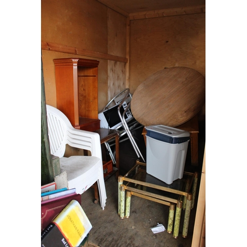 30 - Contents of a Storage Container to include House clearance Furniture and bygones, Ceramics etc...