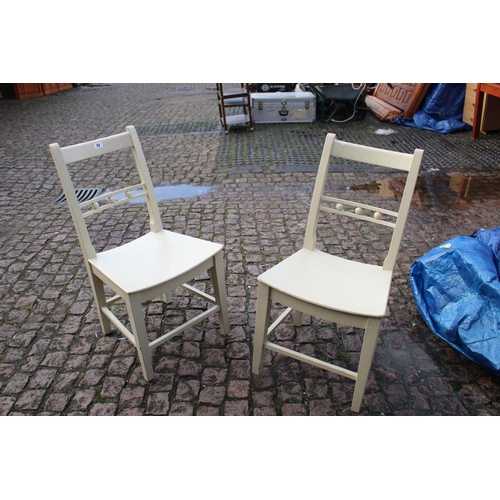 34 - 2 Painted dining room chairs of good Quality...