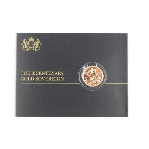 290 - Cased Uncirculated 2017 200 Year Bicentenary Gold Sovereign Sealed...