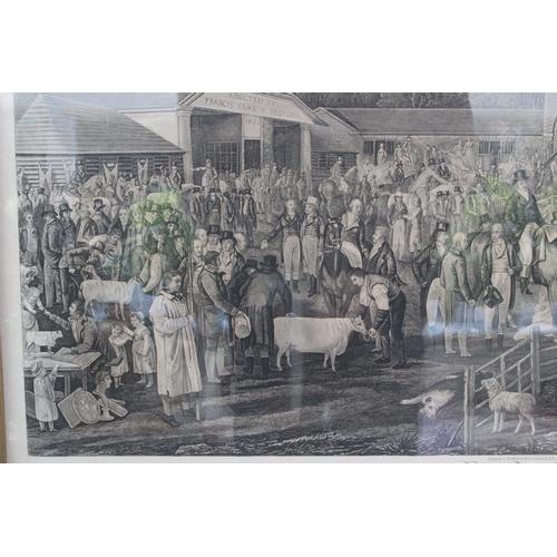 371 - Garrard (George, 1760-1826). Woburn Sheepshearing, published G. Garrard, 1811, original 1811 aquatin...