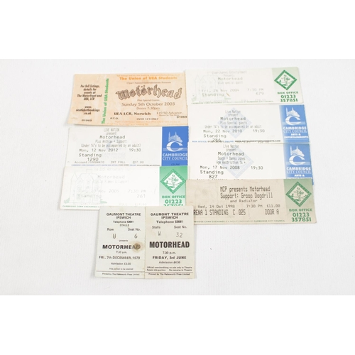 33 - Motörhead collection; Collection of Motorhead concert tickets inc. Gaumont Theatre Ipswich Friday 3r...