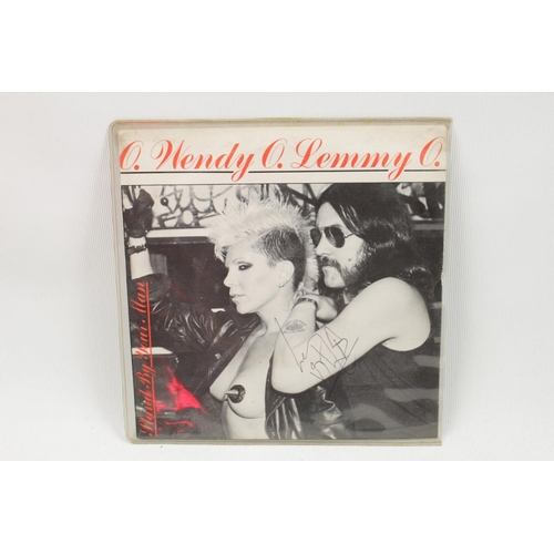 35 - Vinyl O Wendy O Lemmy O 'Stand By Your Man' Single Signed by Lemmy...