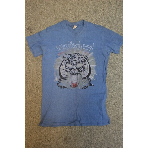 36 - Motörhead Collection; 'Bomber Tour' Original Eddie Clarke (Fast Eddie) T Shirt, as worn presented to...