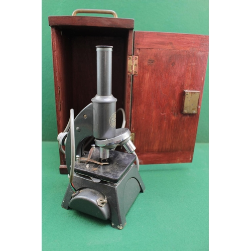 12 - C Baker of London Microscope in wooden fitted case Model 5024...