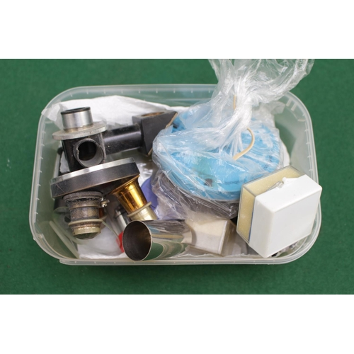 14 - Beck of London Binocular Microscope 16082 with assorted lenses...