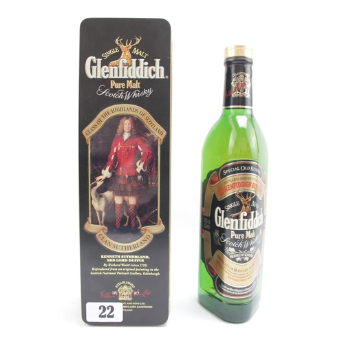 22 - Boxed Glenfiddich Pure Malt Scotch Whisky 70cl...