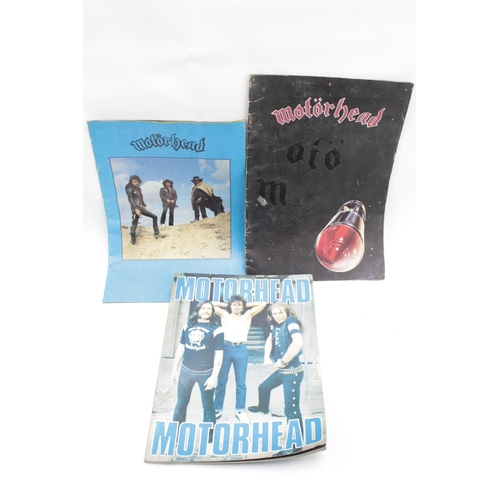 34 - Motörhead Collection; Motorhead Souvenir Book produced by Babylon Books, & 2 Tour Programmes...