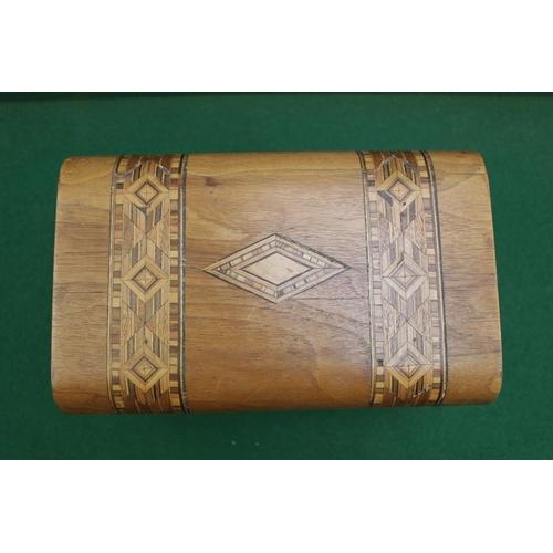 8 - Late 19thC Walnut Inlaid Tunbridgeware Jewellery Box...