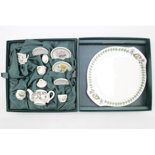 28 - Boxed Portmeirion Botanic garden Dolls tea set...