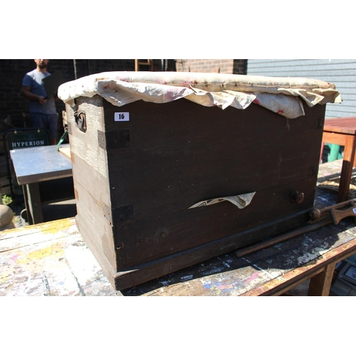 16 - Victorian Mull Chest with metal fittings...