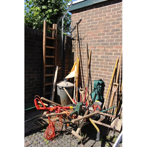 6 - Large Collection of Gardening tools and a wheelbarrow...
