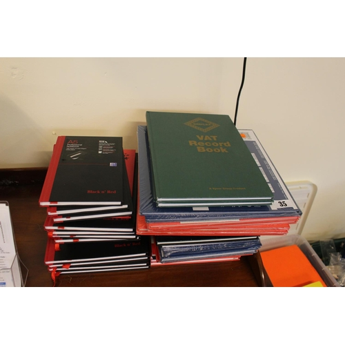 35 - Large collection of Black & red Books and Accounts Books...