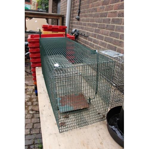 7 - Large Humane Animal Single Catch Cage...