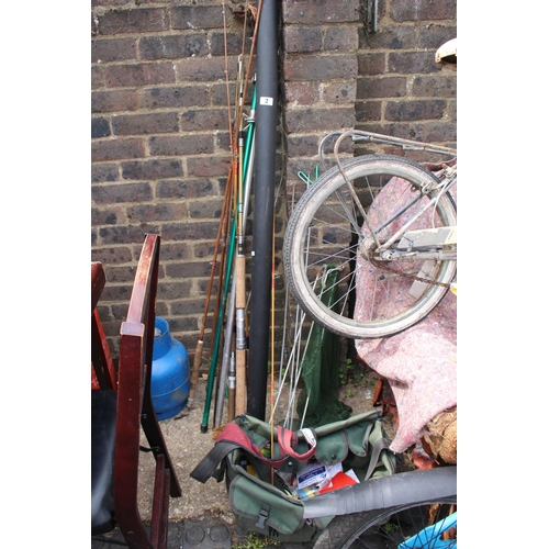 2 - Collection of assorted Fishing Equipment mainly Rods...