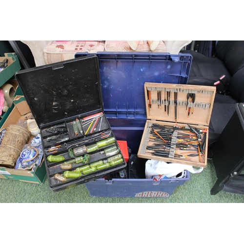 45 - Fishing Seat Box with assorted Tackle inc. Floats, Swimfeeders etc...