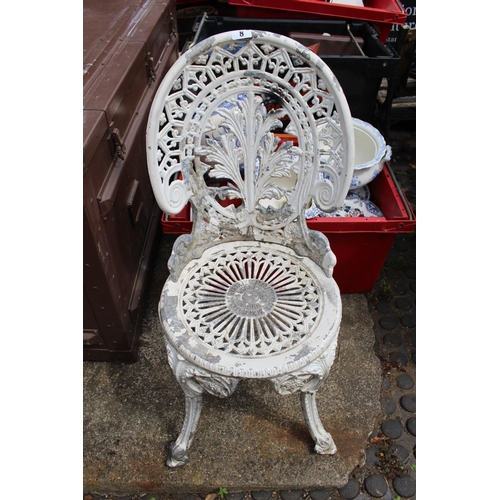 8 - Painted Aluminium Garden chair...