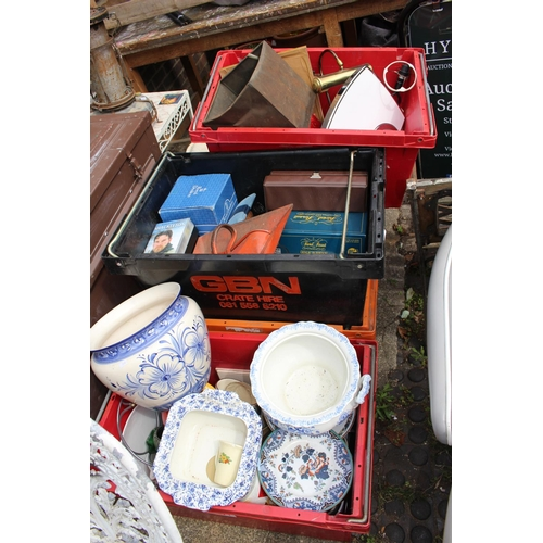 9 - 5 Boxes of assorted House Clearance Items (crates not Included)...