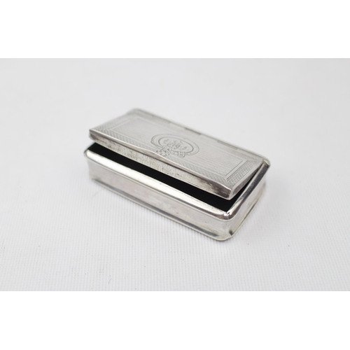 Good Quality 19thC Continental Silver snuff box 3'' Wide