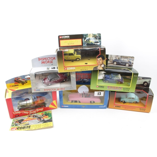 13 - Collection of Corgi Novelty Vehicle sets inc. 'Some Mothers Do 'Ave 'Em', 'Mr Beans Taxi' etc (10)...