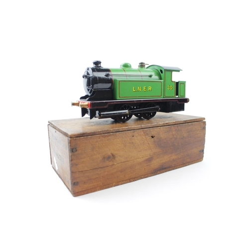 2 - Bowman O Gauge Model No.300 0-4-0 Tank Loco LNER Green No.300, live steam in Wooden Box...
