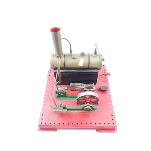20 - Mamod SE3 Stationary Engine on red base...