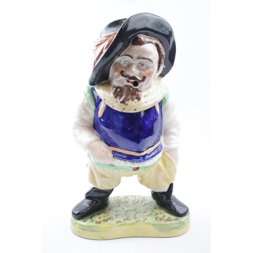 33 - Staffordshire pottery Tobacco jar in the form of a Cavalier...
