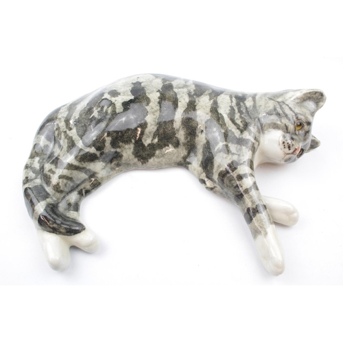 47 - Large Winstanley Cat in laying pose, signed to underneath...