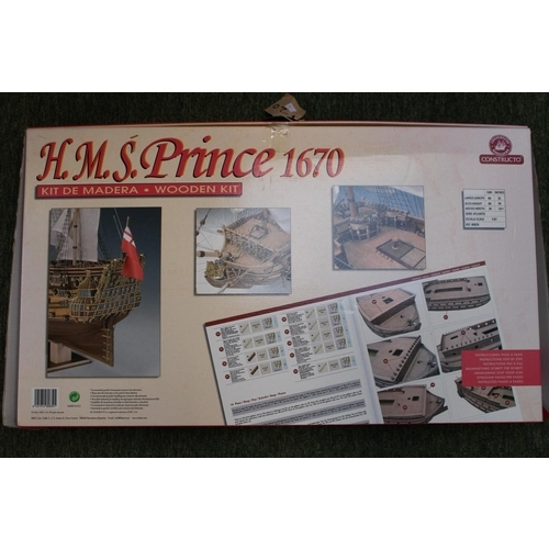 23 - Boxed HMS Prince 1670 Wooden Kit complete...