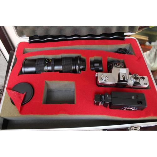 18 - Cased Praktica LTL 3 Camera and lenses