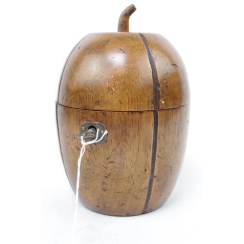 Georgian style Fruitwood Tea Caddy with Key