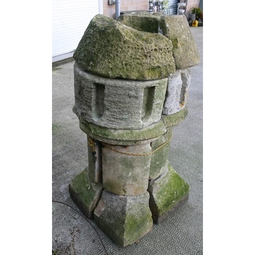 15 - A sectional stone column, possibly from a church, 122cms (48ins) high....