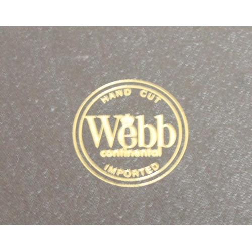 24 - A set of six Webb cut glass whiskey tumblers, boxed...