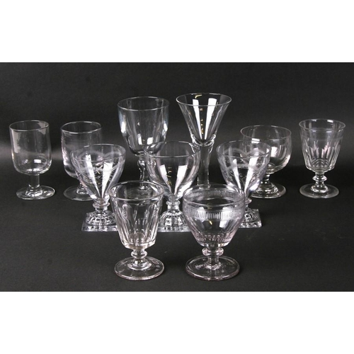 27 - A quantity of 18th / 19th century rummers and similar glasses....
