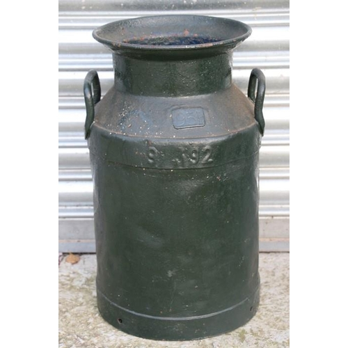 5 - A painted Milk Churn 46cms (18ins) high by 28cms (11ins) diameter at the base. Having GLORIA. 951. 9...