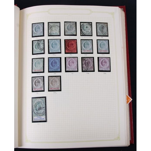 59 - An album of Gibraltar stamps from 1886 - 1980's including an Edward VIII eight shillings; together w...