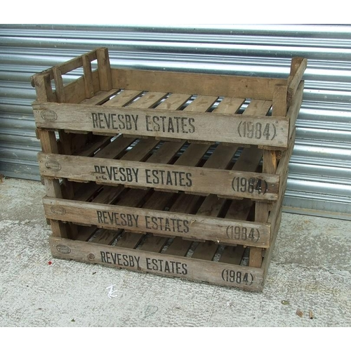 1 - Four Revesby Estates wooden seed trays, 76cms (30ins) wide (4).