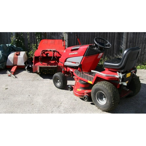 14 - A Countax C600H Hydrostatic ride-on lawn mower / smallholder tractor with ten cutting heights, belt ...