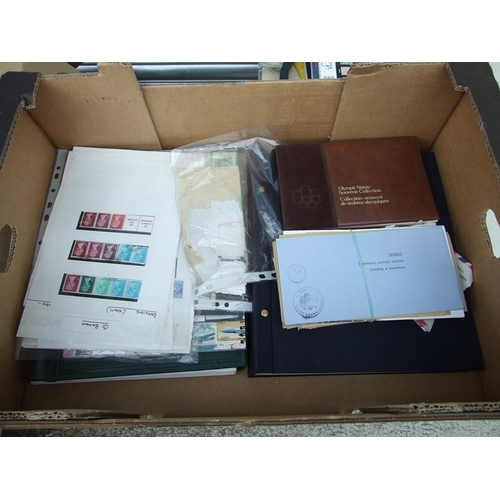 27 - A large quantity of stamp albums, mainly British, including First Day covers; together with a quanti...