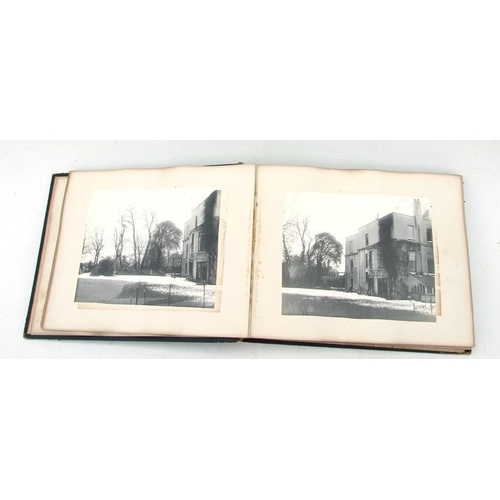 29 - A Victorian photograph album showing scenes of a large house in Richmond Surrey and surrounding area...