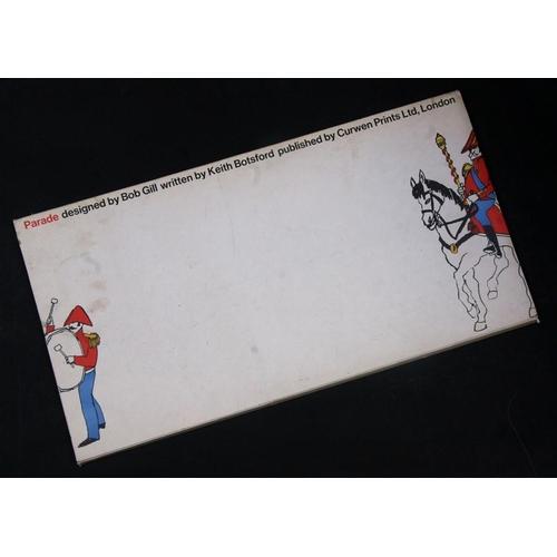 36 - 'Parade' a mid 20th century portfolio of coloured nursery friezes / posters designed by Bob Gill. wr...