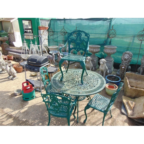 1 - Metal Garden table 4 chairs