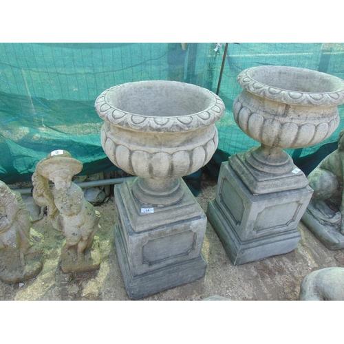 14 - Large concrete Urn