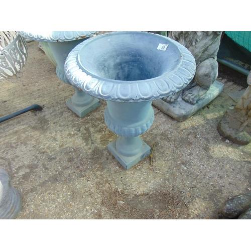 18 - large cast iron green planter