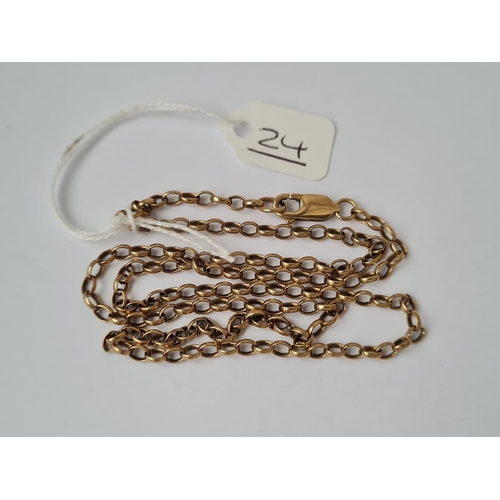 24 - A necklace in 9ct - 9.3gms